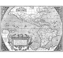 America Map 1587 Photographic Print