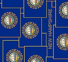 Smartphone Case - State Flag of New Hampshire - Vertical IV by Mark Podger