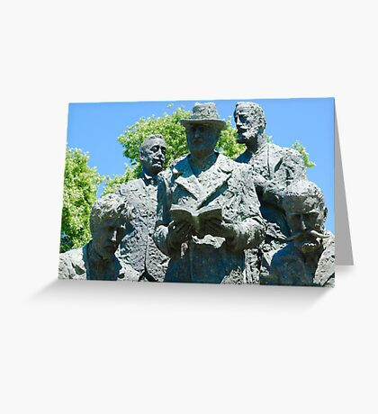 Stone Sculpture  Greeting Card