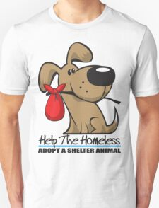 Adopt A Shelter Animal Unisex T-Shirt