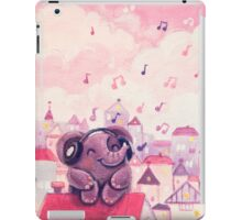 Music Lover - Rondy the Elephant listening to music on the roof iPad Case/Skin