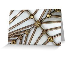 Vaulted Ceiling, Exeter Cathedral, Devon Greeting Card