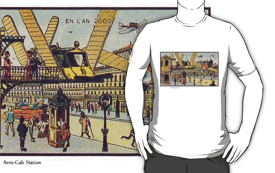 Early 20th Century images of France in 2000 - Air Cab by caldayjd