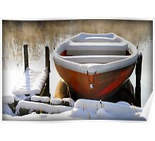 Winter Boat Poster