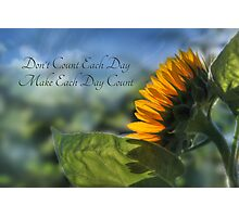 Make Each Day Count Photographic Print