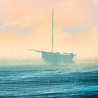 Boat in mist by Lautstarke
