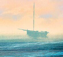 Boat in mist by Lautstarke