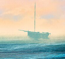 Boat in mist by I am  Loudness