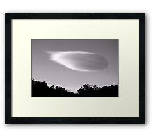 Lone Cloud Framed Print