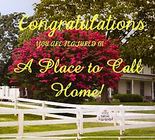 BANNER FOR A PLACE TO CALL HOME by Pauline Evans