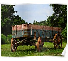 Travel by Wagon Poster