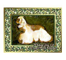 Cocker Spaniel Dog Christmas Photographic Print