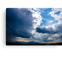 Sunshines in blackness Canvas Print