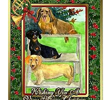 Dachshund Dog Christmas by Oldetimemercan