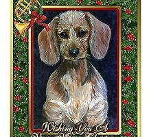 Dachshund Dog Christmas by Oldetimemercan