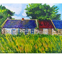 Deserted Roadside Cottages, near Downpatrick, County Down Photographic Print