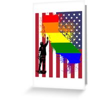 California Wall tagger Rainbow black Greeting Card
