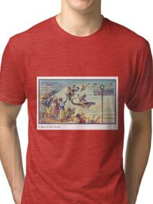Early 20th Century images of France in 2000 - Underwater race Tri-blend T-Shirt