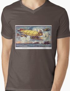 Early 20th Century images of France in 2000 - Air Battle Mens V-Neck T-Shirt