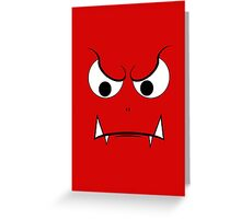 Evil Face Greeting Card