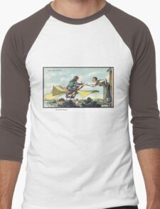 Early 20th Century images of France in 2000 - Flying Postman Men's Baseball ¾ T-Shirt