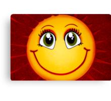 Smiley Sun Canvas Print