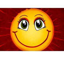 Smiley Sun Photographic Print