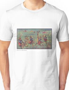 Early 20th Century images of France in 2000 - Divers on Seahorses Unisex T-Shirt