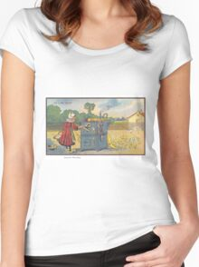 Early 20th Century images of France in 2000 - Intensive Breeding Women's Fitted Scoop T-Shirt