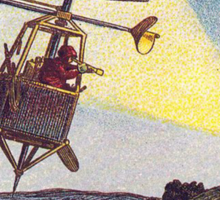 Early 20th Century images of France in 2000 - Sentinel Helicopter Sticker