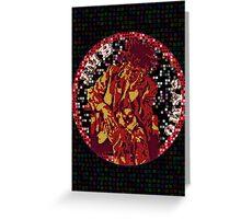 Jean-Michel Basquiat Mosaic Greeting Card