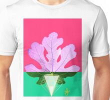 Fig Leaf Diamond Christmas holiday Tree pink green Unisex T-Shirt