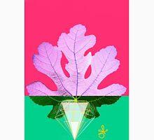 Fig Leaf Diamond Christmas holiday Tree pink green Unisex T-Shirt