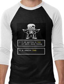 Undertale - Sans Skeleton - Undertale T shirt Men's Baseball ¾ T-Shirt