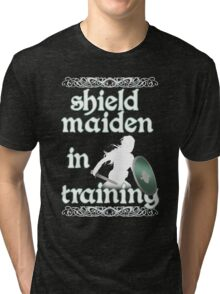 Shield Maiden in Training - Vikings Tri-blend T-Shirt