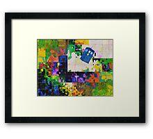 Tardis (abstract-informel-tachisme) Framed Print