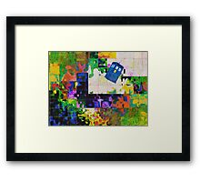 Tardis (abstract-informel-tachisme) Framed Print