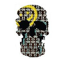 Sherlock Skull and Wall Print by Emma Anderson