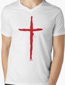THE CROSS Mens V-Neck T-Shirt
