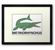 Metriorhynchus Framed Print