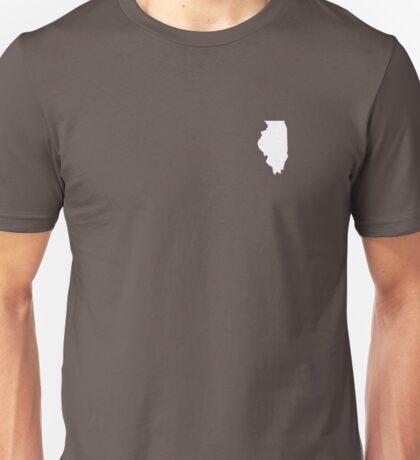 Illinois Over Heart Unisex T-Shirt