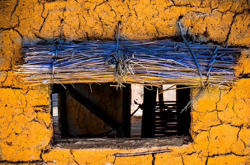 Yellow Mud Hut by Sotiris Filippou