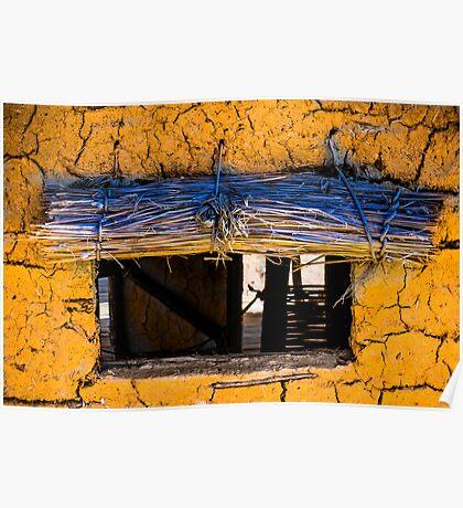 Yellow Mud Hut Poster