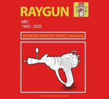 Ray gun Haynes Manual t shirt by leddinton