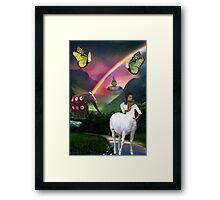 .•*¨*•♪♫•*¨*•MYSTERY BEYOND THE RAINBOW.•*¨*•♪♫•*¨*• Framed Print