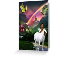 .•*¨*•♪♫•*¨*•MYSTERY BEYOND THE RAINBOW.•*¨*•♪♫•*¨*• Greeting Card