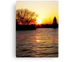 Sandusky Bay Sunset Canvas Print