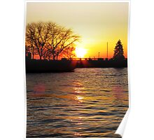 Sandusky Bay Sunset Poster