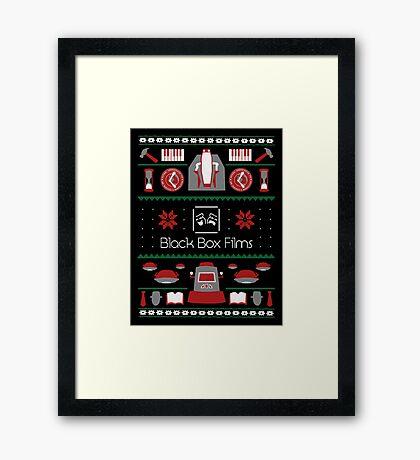 Black Box Films Christmas Sweater (Red & Green) Framed Print