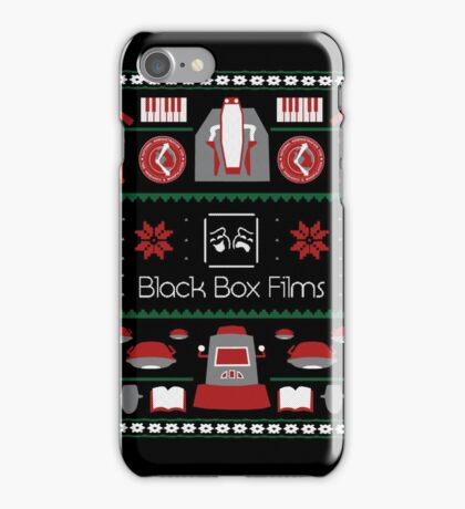 Black Box Films Christmas Sweater (Red & Green) iPhone Case/Skin